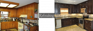 cabinet makeover - refinishing